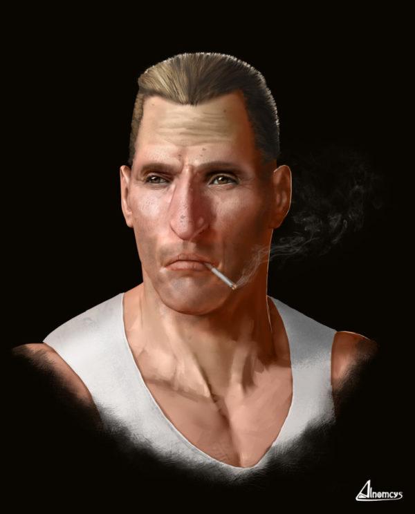 Illustration 4 - Homme qui fume - Alnomcys